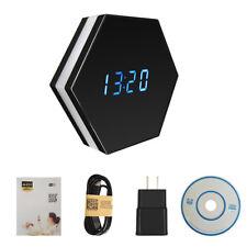 Mini Camera Night Vision Electronic Clock Wireless IP P2P CCTV TV Baby Monitor