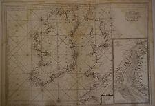 Carte marine Irlande Angleterre Ecosse époque XVIII° Siècle