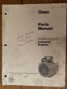 Onan Engine Parts Manual B48M GA018  Cub Cadet John  Deere