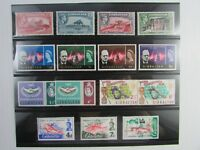 Gibraltar  SC #127//179 5 diff sets FISH  SOCCER  NEW CONSTITUTION  MH stamps