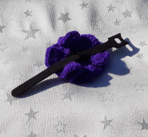 AP - MURPHY'S ARMY TRADITIONAL HANDMADE PURPLE POPPIES FOR ANIMALS TO WEAR
