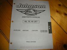 EVINRUDE Jonhson 60,70,   2000 parts catalog