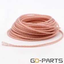 5m Soft Braided PTFE OCC Wire Cable for HIFI Audio Headphone Upgrade DIY 8 Cores