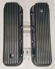 BBC Big Block Chevy Tall BLACK FINNED Valve Covers Aluminum 396 427 454 TALL