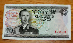 50 Francs, Bank of Luxembourg, 1972.