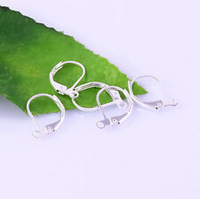 Wholesale 5 Color French Hooks Ear Wires Clip Leverback Earring Finding 16mm