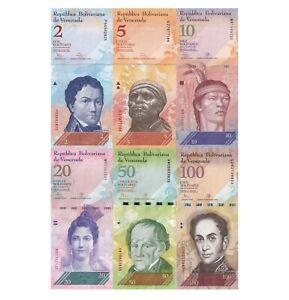 Rare VENEZUELA 2007 Bolivares SET of 6 UNC Bills 2,5,10,20,50,100 Paper Money