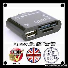 Negro 5 En 1 Usb Tarjeta De Memoria Lector Para Ipad 1 Ipad 2 Conector Duo Cámara Ipad2