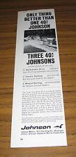 1964 Vintage Ad Johnson 40 HP Outboard Motors Waukegan,IL