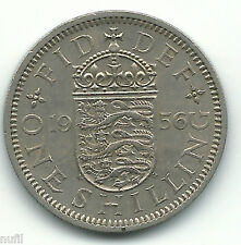Gran Bretaña Great Britain 1 Shilling1956 KM# 904