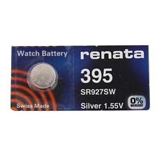 2 Two 395 Renata WATCH BATTERY FREE SHIPPING Brand NEW SEALED