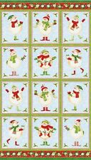 Holly Jolly Christmas Flannel Panel by Northcott Fabrics
