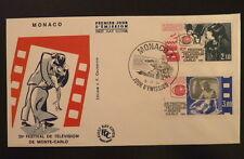 MONACO PREMIER JOUR FDC YVERT  1446/47   FESTIVAL DE TELEVISION   3+2,10F   1984