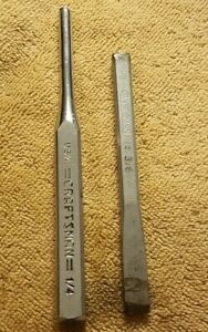 Craftsman 42886 1/4 Punch And BC 3/8 Chisel. Lot of 2. EUC METAL TOOLS