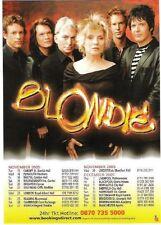 BLONDIE Debbie Harry 2005 TOUR UK FLYER / mini Poster 8x6 inches