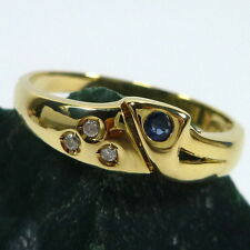 Gold Ring in 333/8K Gold mit Saphir 56 (17,8 mm Ø) Saphirring