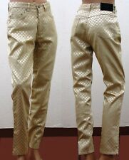 93f31cdb9593ae VERSACE CLASSIC V2 pantaloni 5 tasche jeans oro donna vintage vita alta high