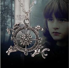 game of thrones necklace Theme Crest Pendant Compass stark dire wolf antique