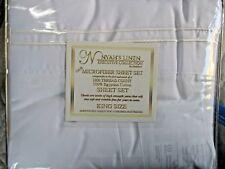 King Size Microfiber Sheet Set 1800 Thread Ct 100% Egyptian Cotton-White & Red
