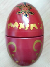 Rare authentic Maxim's Egg Shaped Gift Tin - Mint Condition