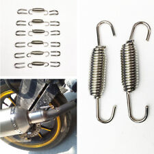 18Pcs Exhaust Pipe Muffler Stainless Steel Spring + Hook Motorcycle Accessories