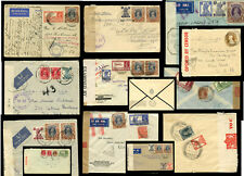 INDIA CENSORED WW2 AIRMAILS to N.AMERICA ENVS TAPES POSTMARKS..PRICED AS SINGLES