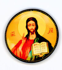 Russian Handpainted Brooches of Religous Saints_brooch_06, Jesus