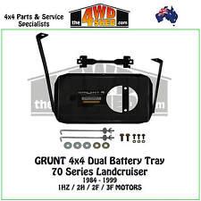 Grunt 4x4 Dual Battery Tray 70 Series Toyota Landcruiser 1984-1999 1HZ 2H 2F 3F