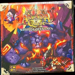 Arcadia Quest Inferno: Whole Lotta Lava CMON games board game expansion RARE