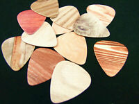 10 Guitar Picks Plectrums 0.71mm Musical Music Band Personal Wood Grain Effect