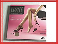 WELL JAMBES DE REVE Taille 1 NEUF Collants voile reflets subtils leger blush