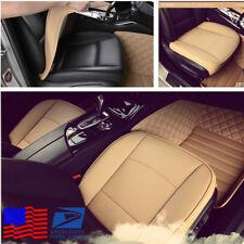 Beige PU Leather Car Full Surround Seat Cover Cushion Pad Protector Four Season