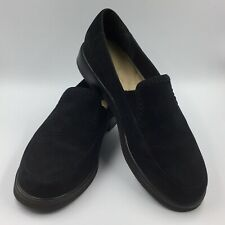 Rockport Black Suede Loafers Women's Size 7M Preowned Walking Casual Clean