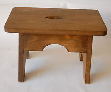 Handmade Wooden Footstool/Step Rustic NEW Dark Oak