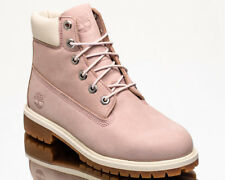 Timberland 6 Inch Premium Waterproof Junior Boots Youth Older Kids Pink Shoes