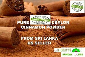 1 LB ALL NATURALPURE Premium CEYLON Cinnamon Powder, SRI LANKA