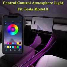 Multi Color LED Light Car Interior Light Strip Control Light For Tesla model 3