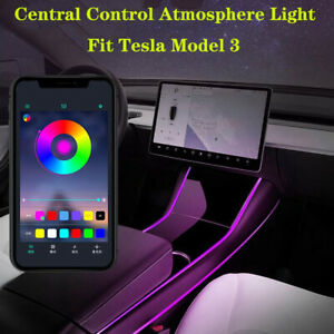 Multi Color LED Light Car Interior Light Strip Control Light For Tesla model 3