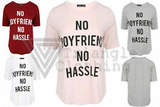 Unbranded Short Sleeve Hip Length Slogan T-Shirts for Women