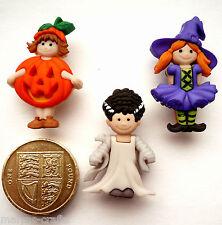 GIRLS TRICK OR TREAT Craft Buttons 1ST CLASS POST Fancy Dress Halloween Witch