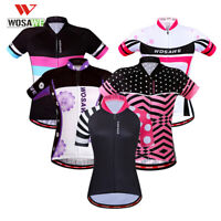 Lady Pro Cycling Jersey Short Sleeve MTB Road Team Bike Tops Breathable Shirts