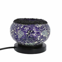 Shungite Purple Aqua Mosaic Table Lamp Himalayan Rock Salt E-26 Bulb Required