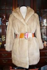 Beautiful Vintage PASTEL BLOND MINK Fur Coat Womens M 8-10
