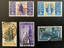 Lotto di n. 5 francobolli Poste Italiane Aerea Centenario Santa Caterina e altri