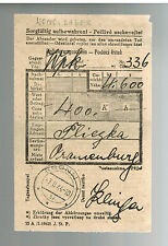 1944 Germany Oranienburg Concentration Camp money order Receipt KZ Pliezka