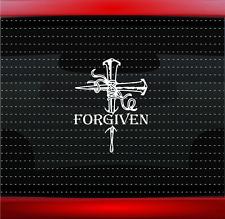 Forgiven Cross Nails Christian Car Decal Truck Window Vinyl Sticker (20 COLORS!)