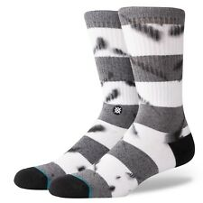 STANCE MENS SOCKS.NEW EMMER STRIPED GREY/WHITE ARCH SUPPORT SIZE UK 6 - 12 8S1