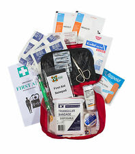 UFirst First Aid Kit : Vehicle & Personal in Vinyl Red Zippered Case