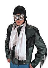 Mens Black Aviator Halloween Hat