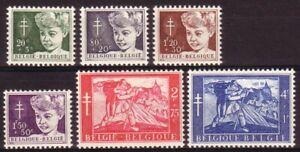 [P219] Belgium 1954 good set very fine MNH stamps value $40